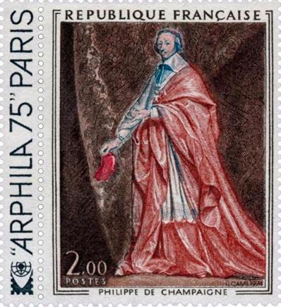 Timbre de Richelieu - D'après Philippe de Champaigne