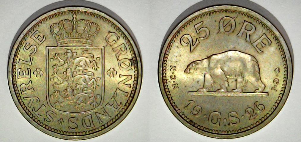 25 øre grønland 1926