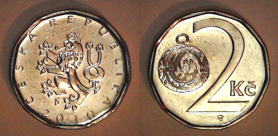 2 Korun Répuplique tchèque 2010