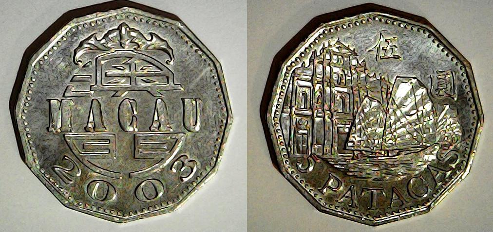 5 patacas Macau 2003