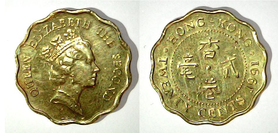 20 cents Hong Kong 1991