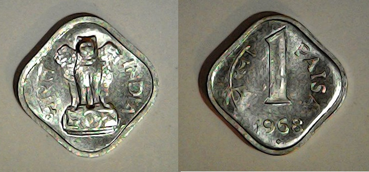 1 paisa Inde 1968
