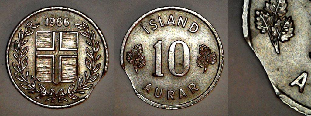 10 Aurar 1966 Islande