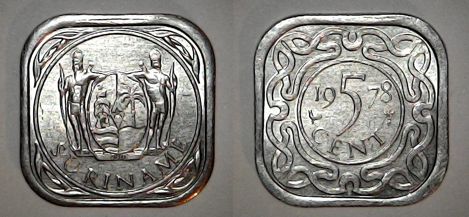 5 Cents Suriname 1978