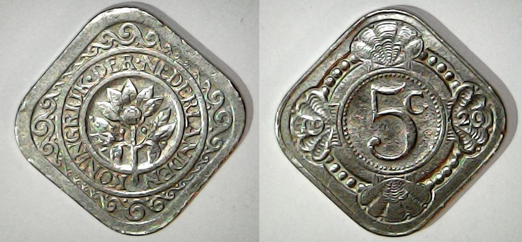 5 cents Pays Bas 1929