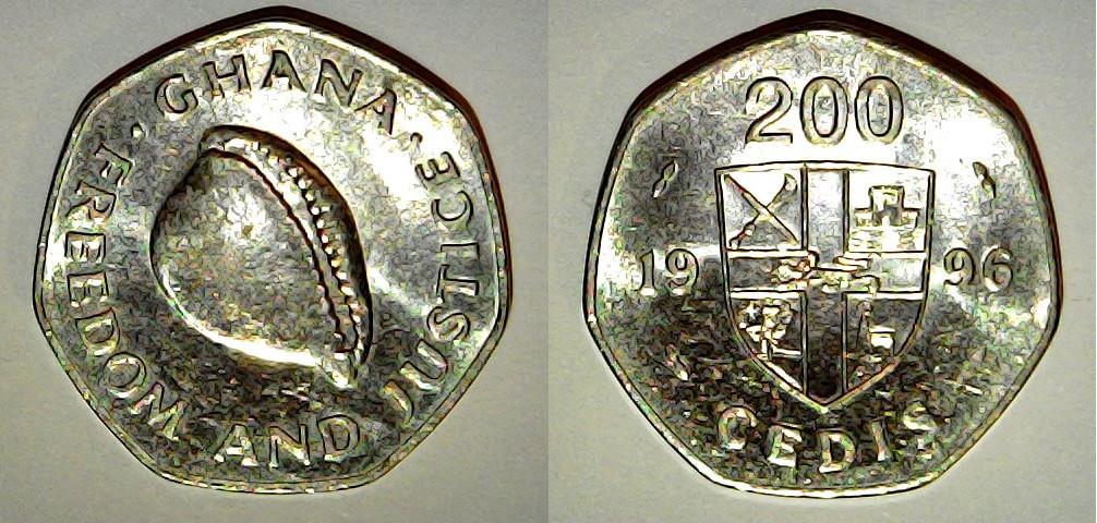 200 cedis Ghana 1996