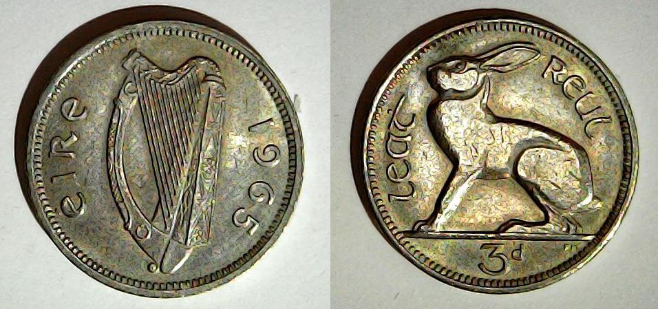 3 pingin 1965 Irlande