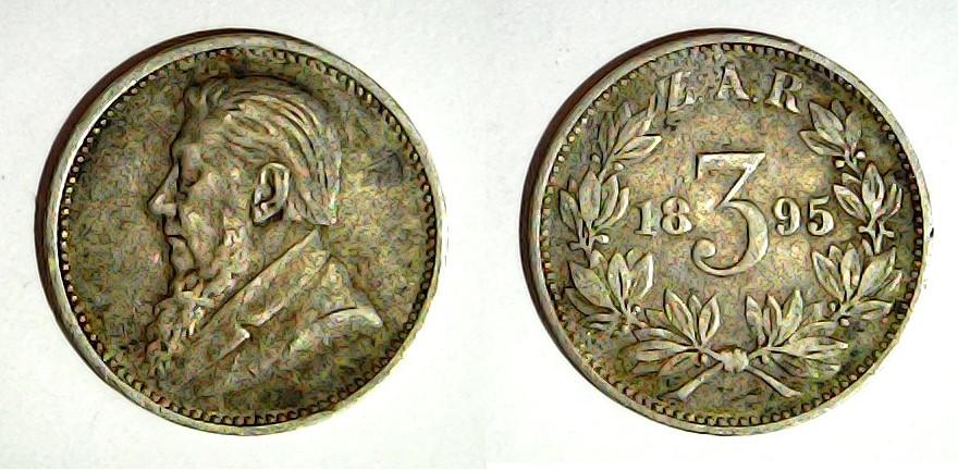 3 pence 1895 Zuid-Afrikaansche Republiek