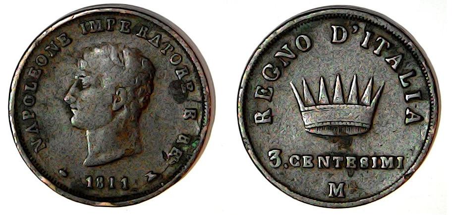 3 centesimi 1811 Royaume d'Italie