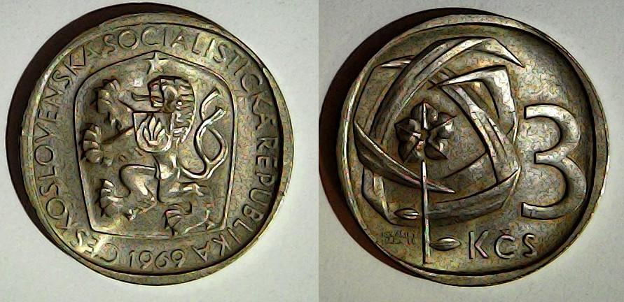 3 korun 1969 Tchécoslovaquie