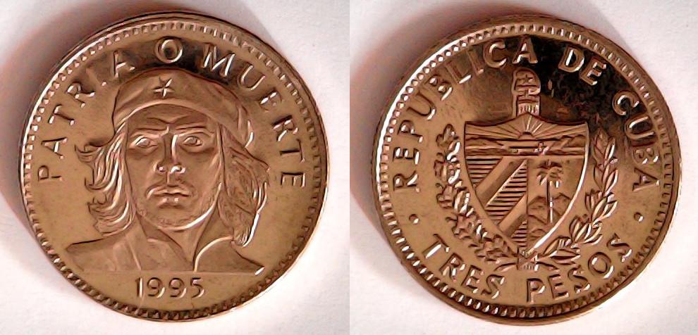 3 pesos 1995 Cuba