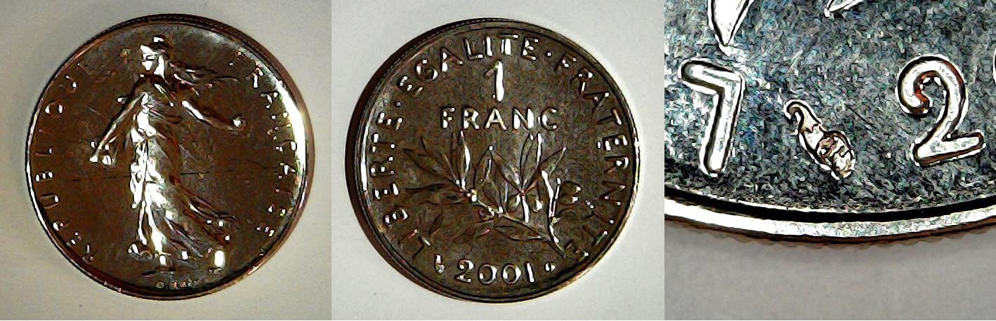 1 franc 2001 France