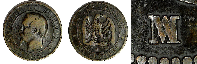10 centimes 1854 MA France