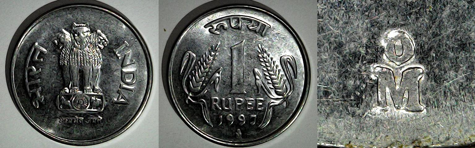 1 roupie 1997 Mexico Inde