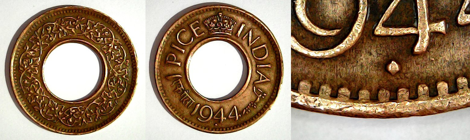 1 pice 1944 Bombay Inde