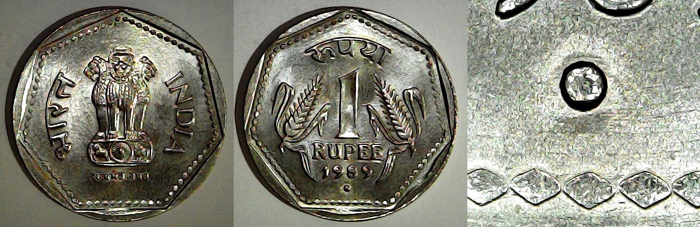 1 Rupee 1989 Noida Inde