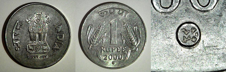 1 Rupee 2000 Kremnica Inde