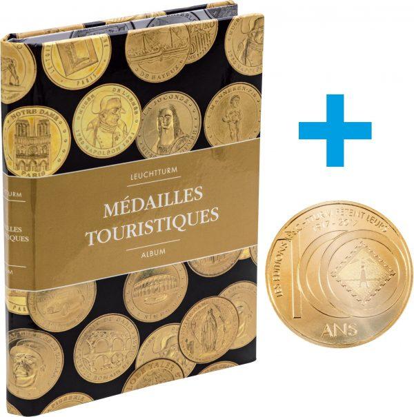 Album pour classer 36 médailles touristiques