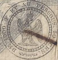 500 Francs Germinal - Droit de timbre humide proportionnel