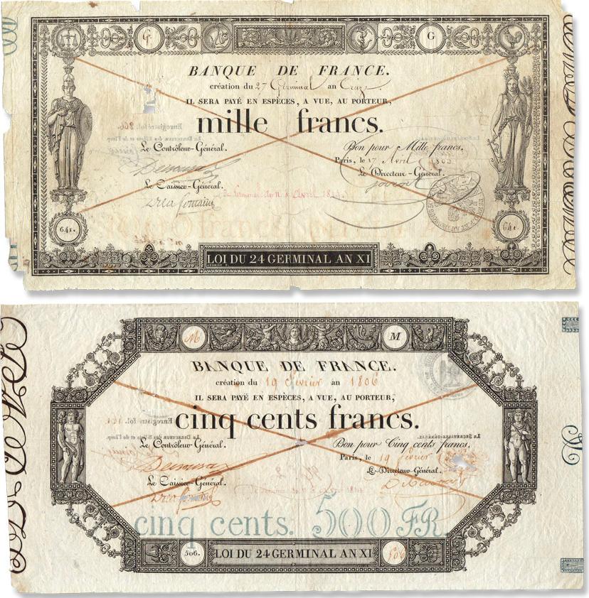 Les billets de banque de GERMINAL