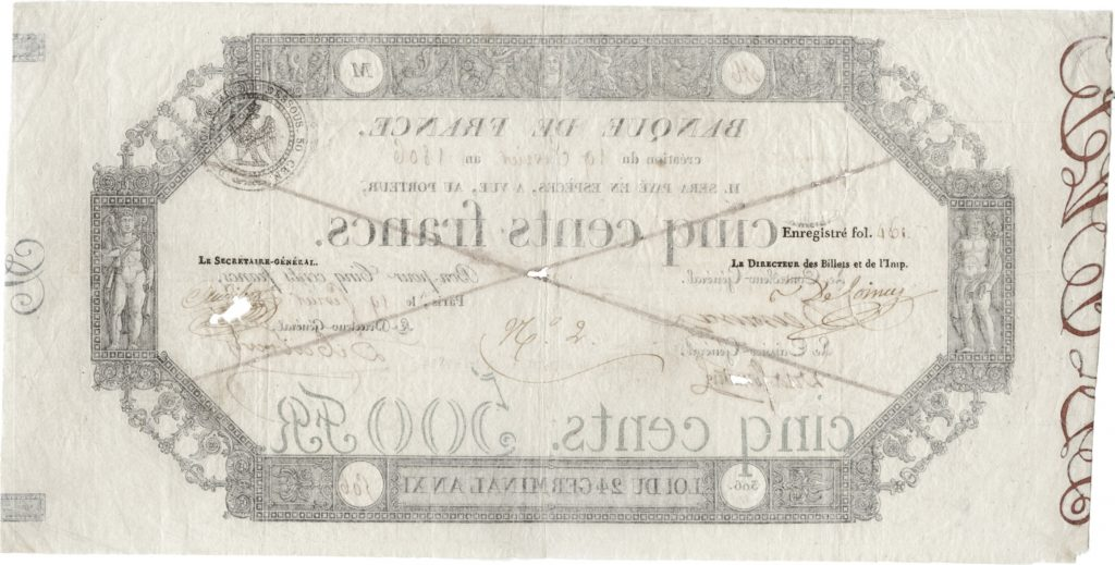 billet de 500 Francs Germinal