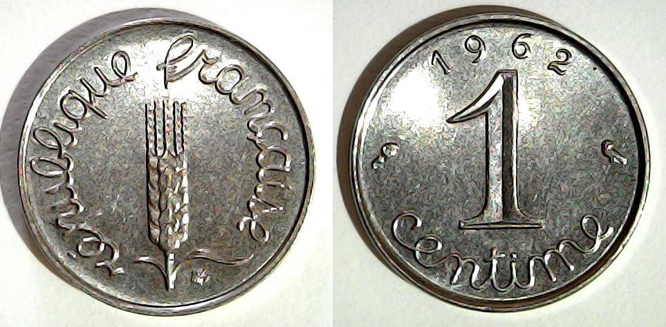 1 centime France 1962