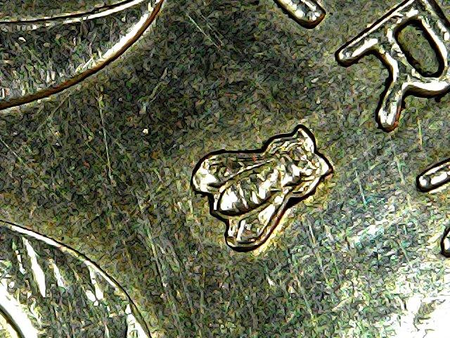 5 centimes France 1997 Abeille proche du R - Détail