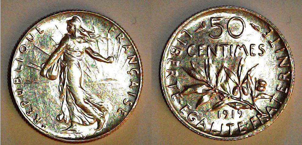 50 centimes France 1919