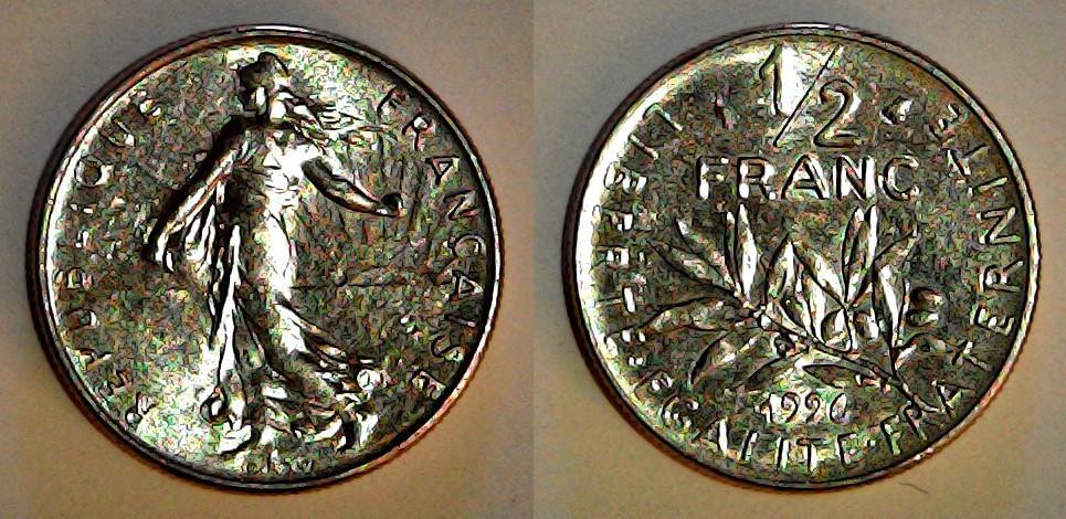 ½ franc France 1996