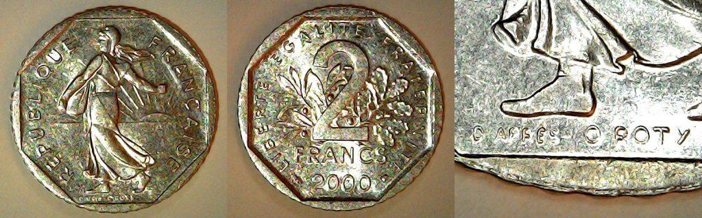 2 Francs France 2000