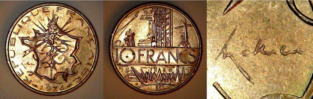 10 francs France 1974