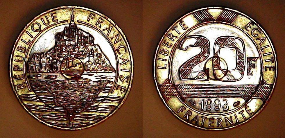 20 francs France 1993