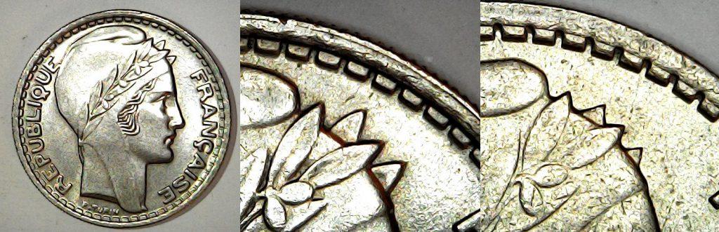 10 francs France 1946 Rameaux longs et courts
