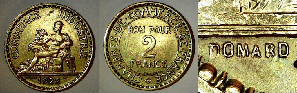 Bon pour 2 francs France 1922