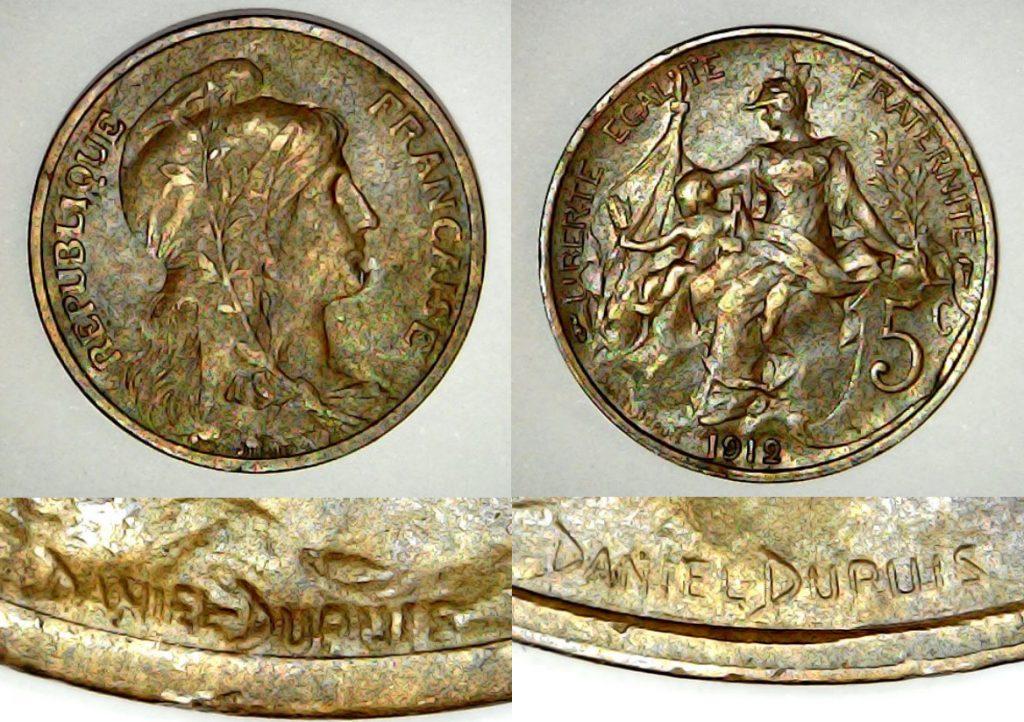 5 centimes France 1912