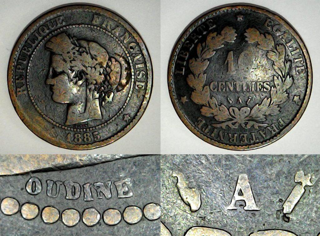 10 centimes France 1885