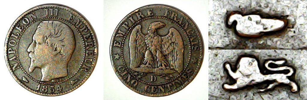 5 Centimes France 1954 D