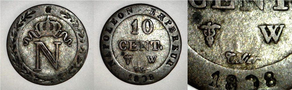 10 centimes France 1808 W
