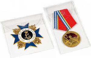 Pochettes de protection pour médailles et décorations militaires